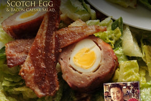 Scotch Egg & Bacon Caesar Salad Recipe