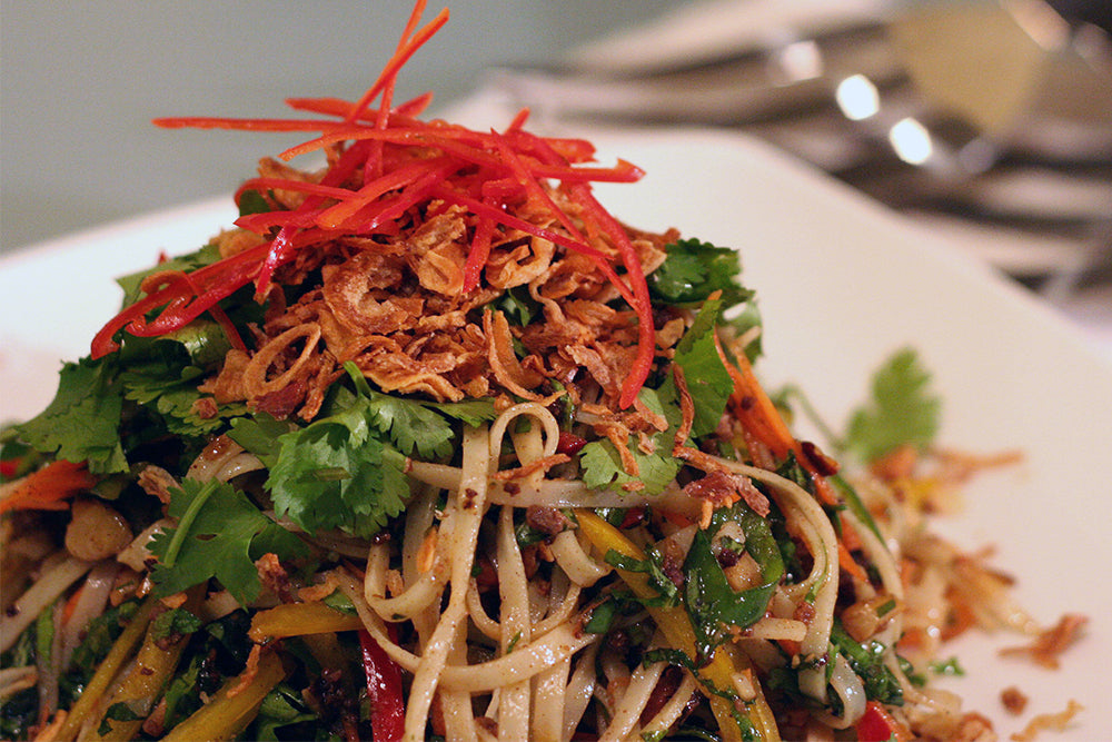 Asian Noodle Salad with Rotisserie Chicken