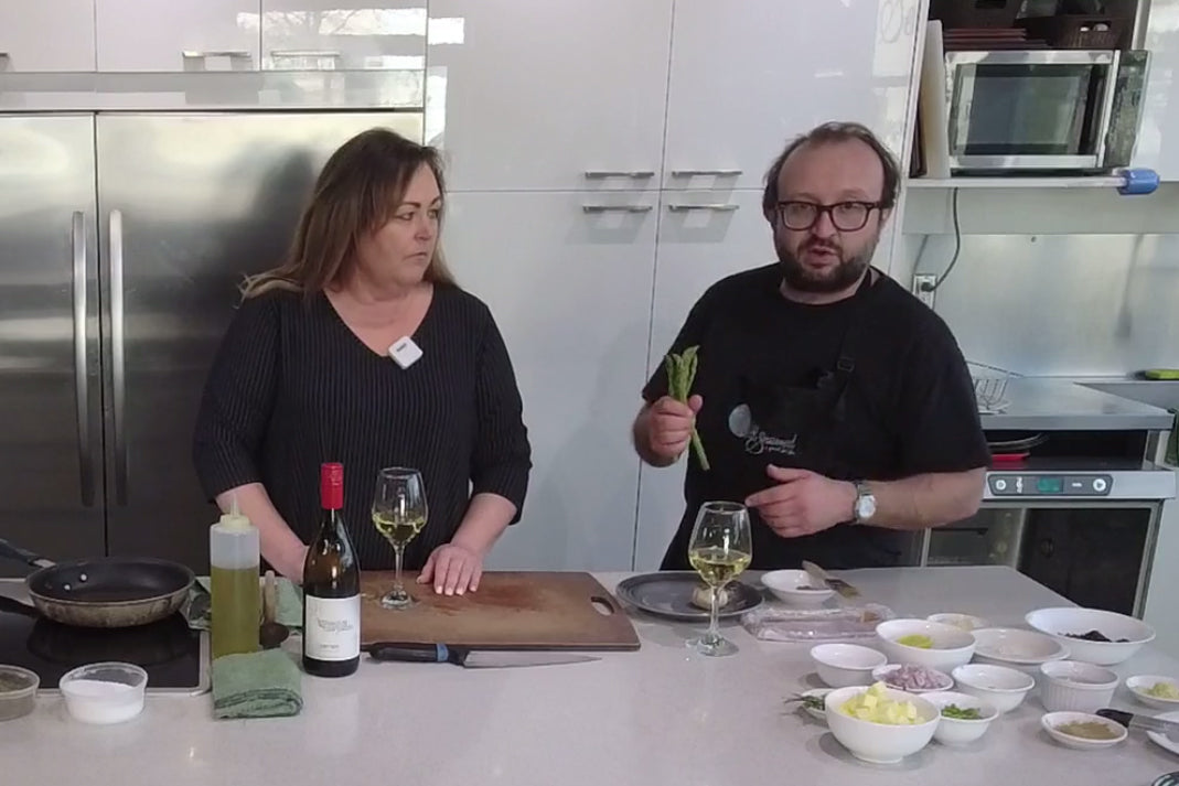 Cook Along with Chef Deniz: Spring Risotto of Asparagus, Morels and Fava Beans, Pecorino Romano