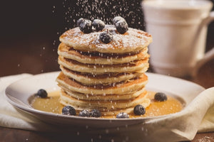 Fat Tuesday Blueberry Ricotta Pancakes