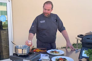 Cook Along with Chef Craig: BBQ Salmon with Jerusalem Couscous Salad & Blistered Vegetables