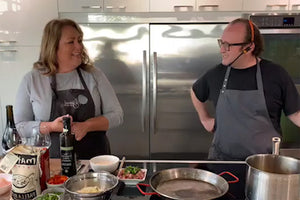 Cook Along with Chef Deniz: Paella and Heirloom Tomato Salad with Basil