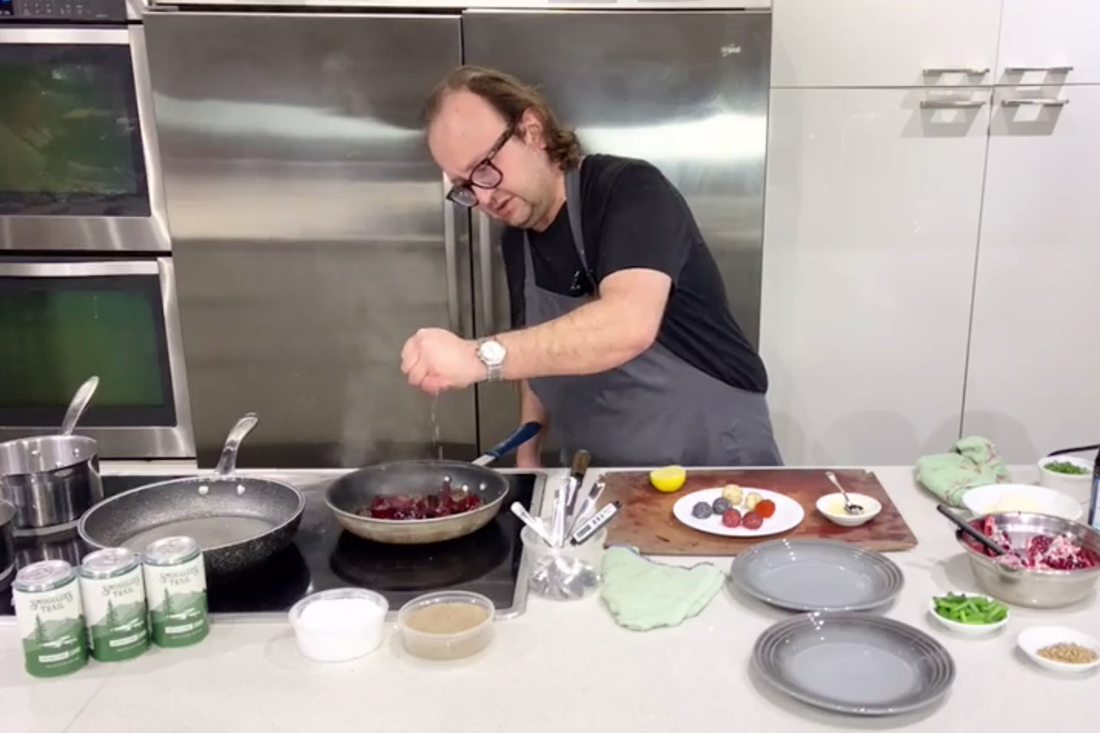 Cook Along with Chef Deniz: Caramelized Beet Salad with Pomegranate and Goat Cheese Truffles