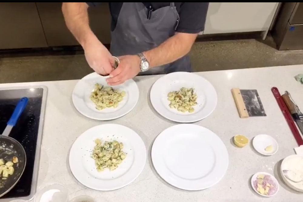 Cook Along with Chef Deniz: Caramelized Ricotta Gnudi with Sage, Pecorino and Hunter Browns Brown Butter