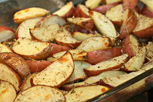 Roasted Farmers Market Potatoes with Preserved Lemons