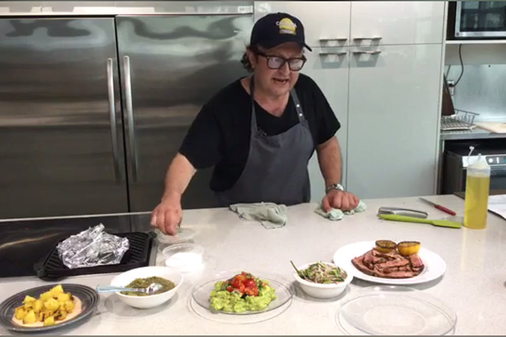 Cook Along with Chef Deniz: Taco Fiesta - Raw Onion Slaw With Mustard And Chilies