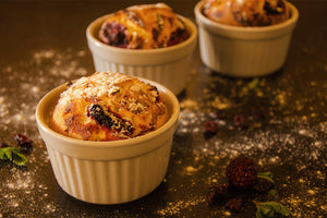 Panettone Egg Nog Bread Pudding Muffins: 2nd of our 12 Days of Recipes annual series