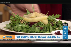 Roasted Pear & Arugulas Salad with Cranberries and Maple Vinaigrette: Holiday Dinner Side Dishes - As seen on Breakfast TV