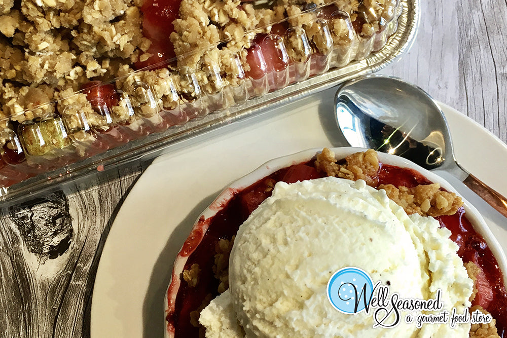 New In Store: Strawberry Rhubarb Crisp!