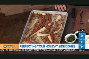 Sweet and Spicy Roasted Carrots with Parsnips and Chickpeas: Holiday Dinner Side Dishes - As seen on Breakfast TV