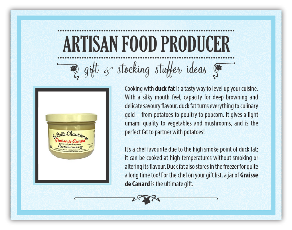 French Duck Fat - Our featured gift idea in Day 11 of our 12 days of Recipes 2016 | Well Seasoned, a gourmet food store in Langley serving the Lower Mainland, Fraser Valley and Metro Vancouver