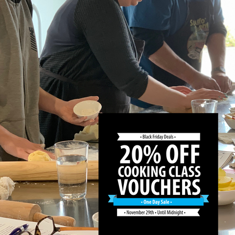 Gift the Gift of Cooking Classes| Black Friday Deal - 20% off all cooking class vouchers | Well Seasoned, a gourmet food store in Langley BC