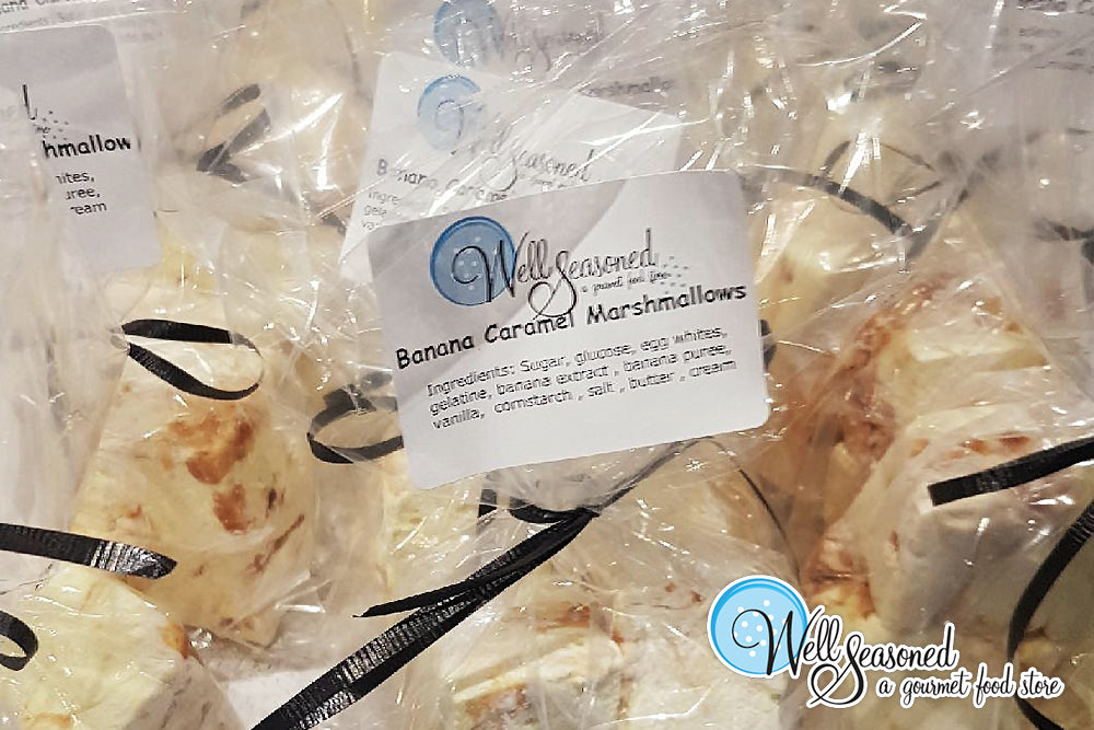 Banana Caramel Marshmallows | Fresh | Well Seasoned, a gourmet food store serving the Lower Mainland, Fraser Valley and Vancouver area