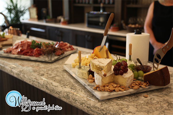 Cheese, charcuterie and veggie platters are an elegant addition to any party | Catering | Well Seasoned, a gourmet food store serving the Fraser Valley, Lower Mainland and Vancouver