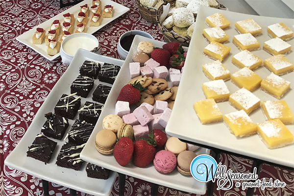 Pinkies up for high tea! Book us to help cater your themed event. We've got you covered. | Catering | Well Seasoned, a gourmet food store serving the Fraser Valley, Lower Mainland and Vancouver