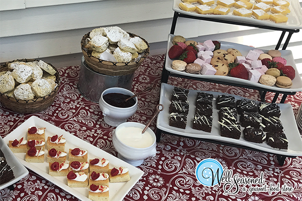 How about some high tea? Book us to help cater your themed event. We've got you covered. | Catering | Well Seasoned, a gourmet food store serving the Fraser Valley, Lower Mainland and Vancouver