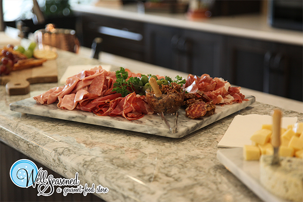 Just say no to shirmp rings! Order our gourmet charcuterie platter | Catering | Well Seasoned, a gourmet food store serving the Fraser Valley, Lower Mainland and Vancouver