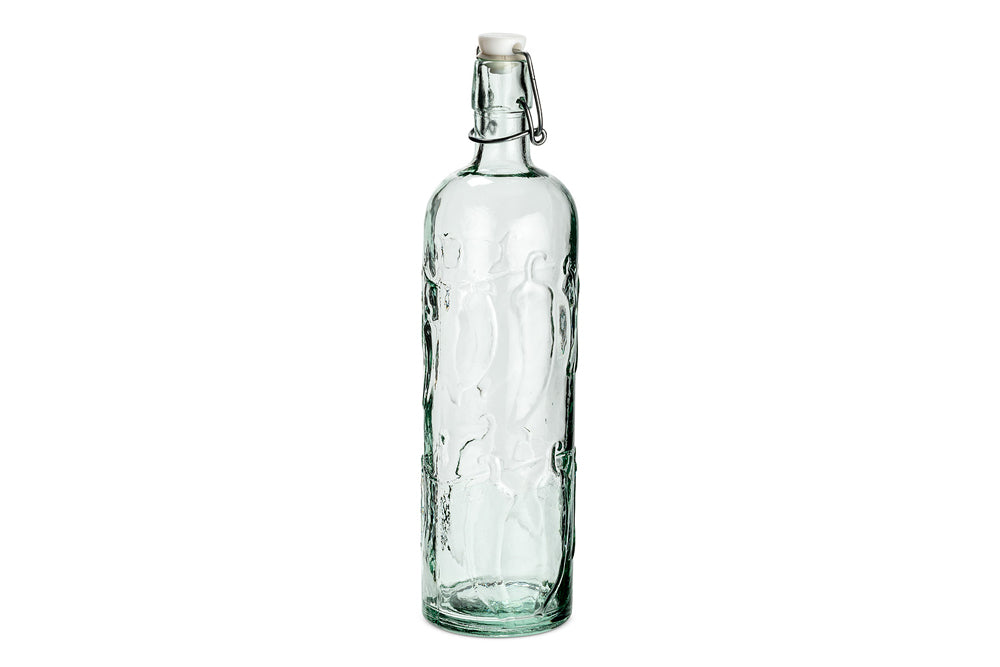 Abbott Embossed Peppers Glass Bottle with Seal