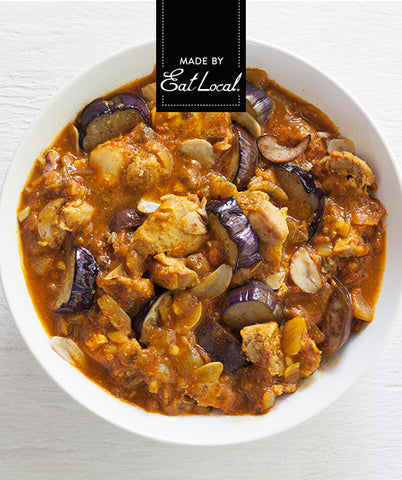 Nutrition details for Keto Garlic Chicken with Eggplant