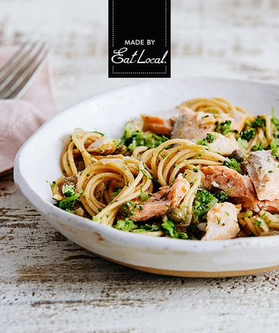 Nutrition details for Mediterranean Salmon Pasta