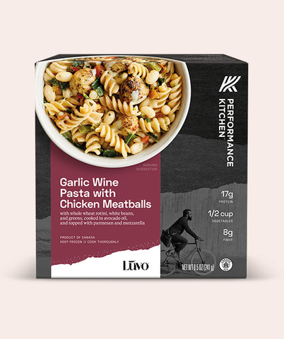 Garlic Wine Pasta with Chicken Meatballs