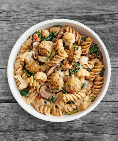 Stroganoff Pasta with Chicken Meatballs