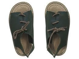 Green Laced Sandals