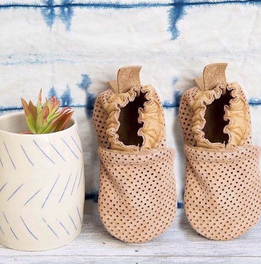 Perforated Camel Moccasin