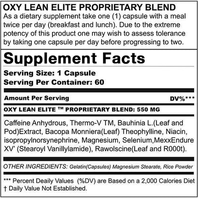 Oxy Lean Original Formula - Premium Weight Loss Fat Burner