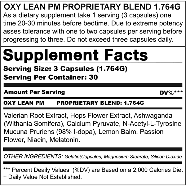 Max Appetite Suppressant + Oxy Lean PM (Combo Deal)