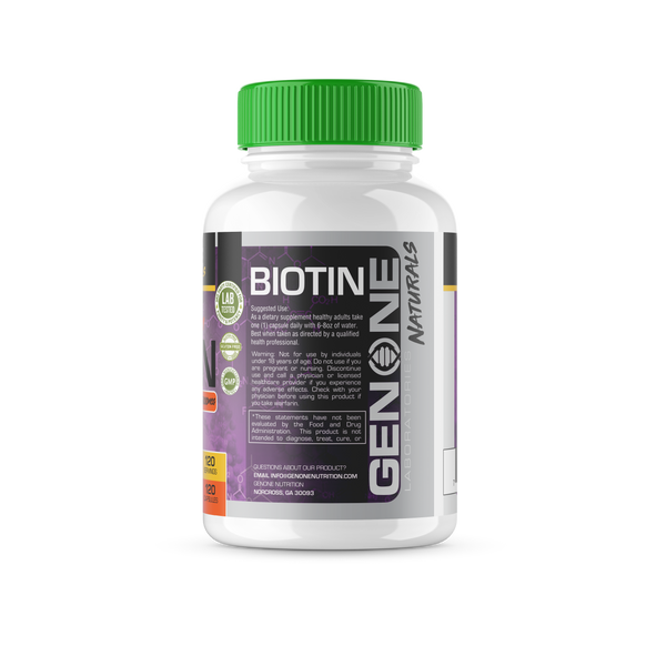 Extra Strength Premium Biotin - Skin, Hair, & Nails Improvement Formula