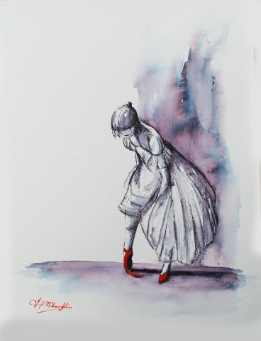 The untied red shoe