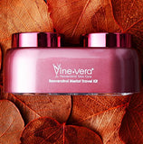 Vine Vera Resveratrol Merlot Travel Kit - Day Cream 12ml + Night Cream 12ml - helps reduce the appearance of fine lines and wrinkles