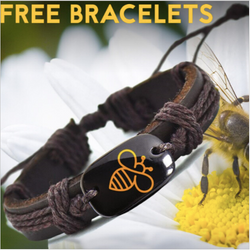 Unisex Bee Leather Bracelet