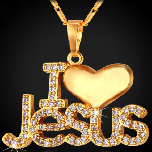Jesus Piece Heart Necklace & Pendant
