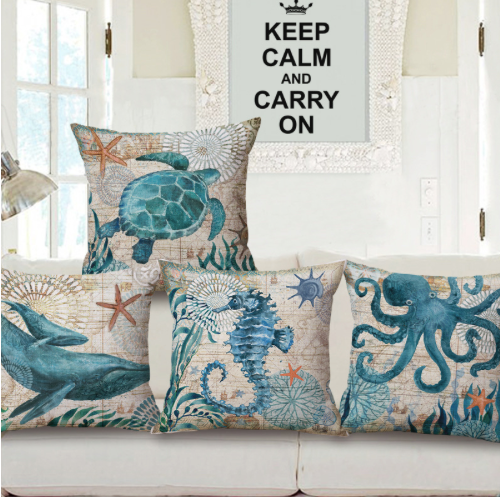 Marine Animals Cushion Pillow Covers