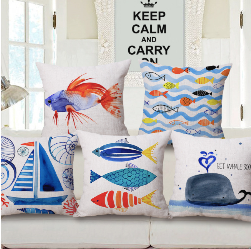 Fish Cushion Pillow Covers Set