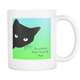 USA Hand Made Watching Cat Mug