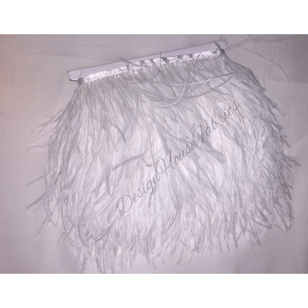 Ostrich feather trim- white