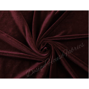 Premium Stretch velvet- Burgundy