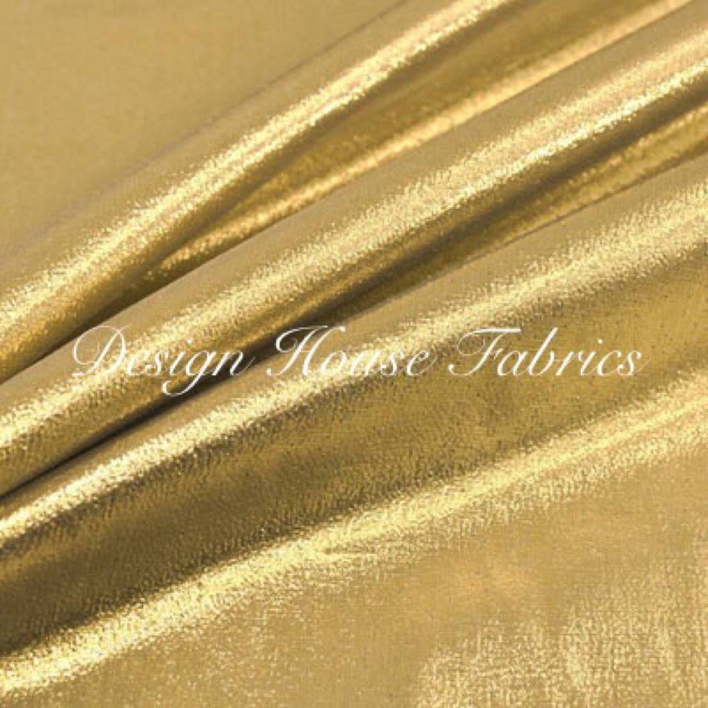 Foil Spandex Lame - Gold on Gold