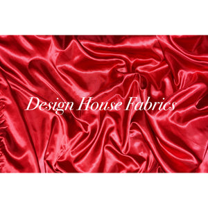 Satin Charmeuse - Red