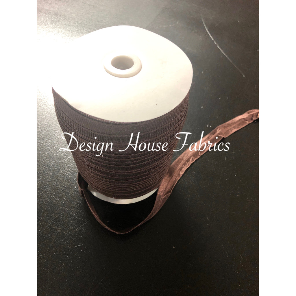 Fold Over Elastic 5/8 - Brown