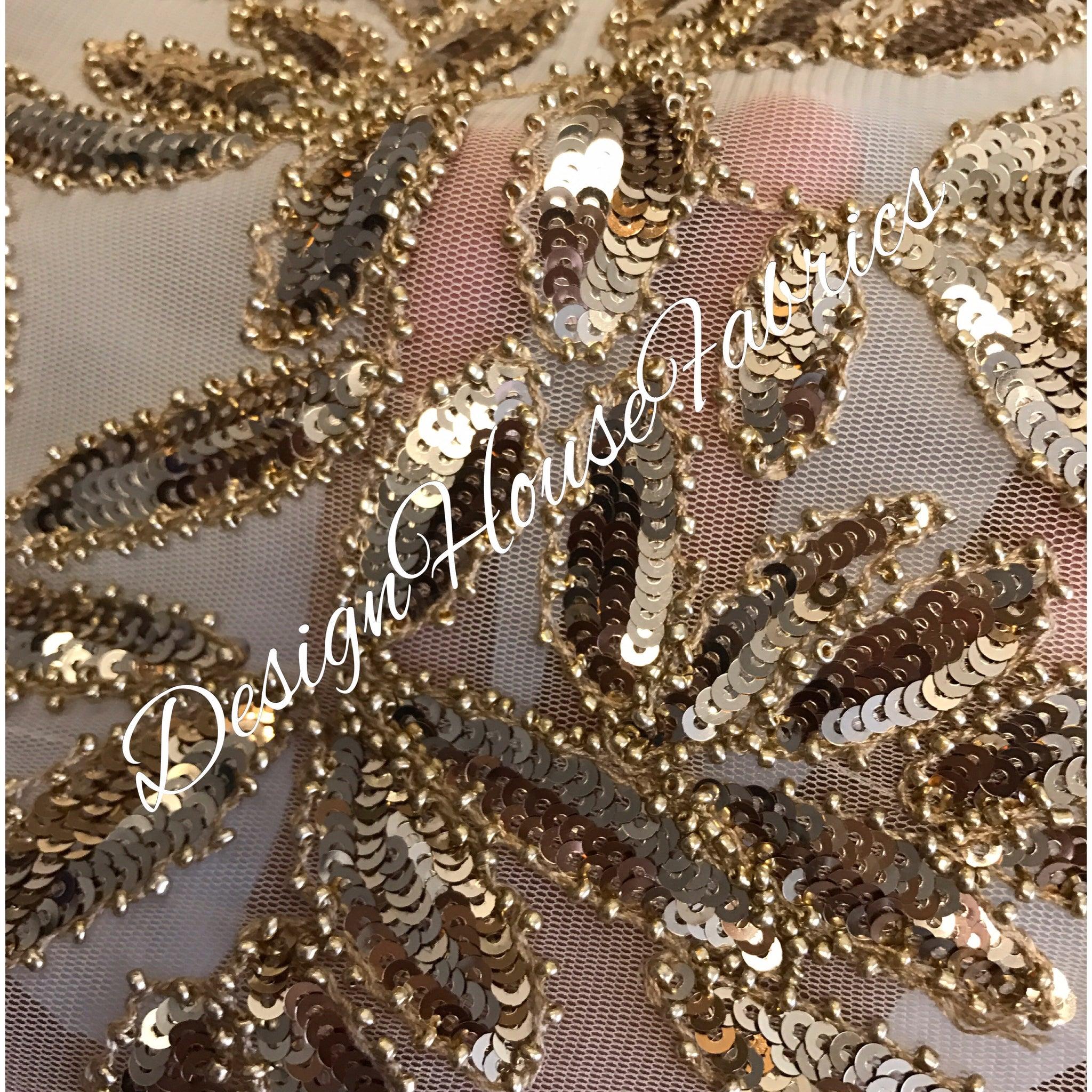 Beaded lace 9 - Gold on Gold
