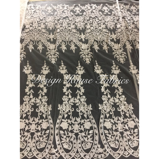 Embroidered Lace 2 - White