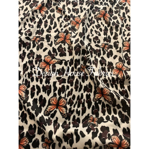 Animal Print Butterfly - Black/White