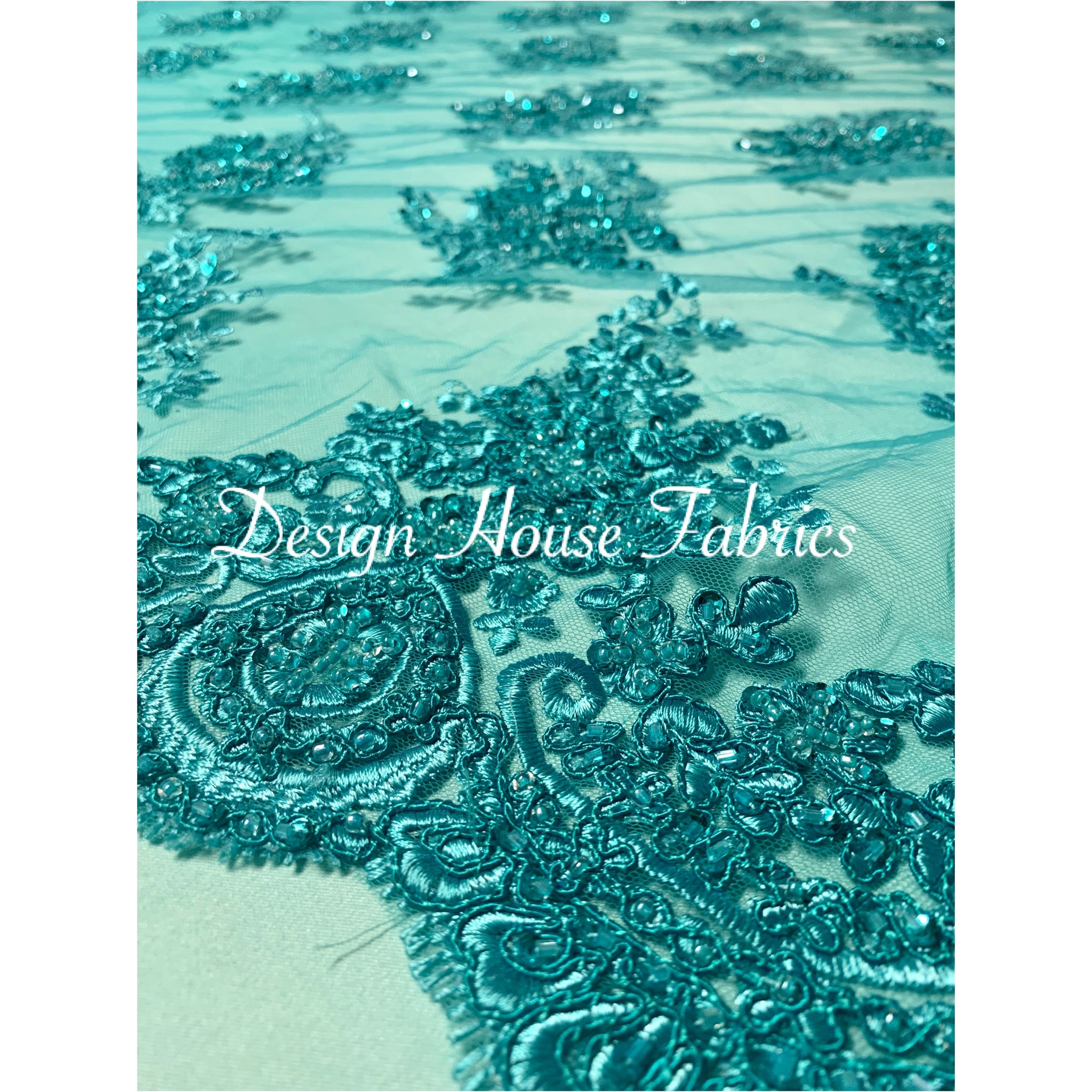 5. Beaded lace 1 - Turquoise