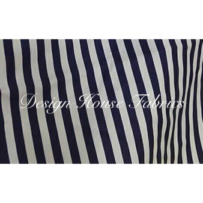 Stripe Spandex - Navy Blue