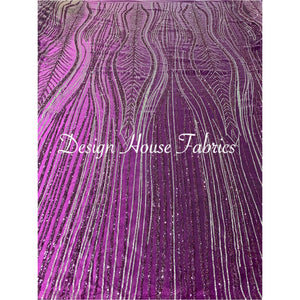 10. Glitter Stone 1 - Purple & Silver on Purple Mesh