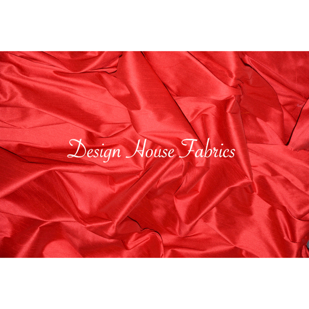 Faux Silk - Red